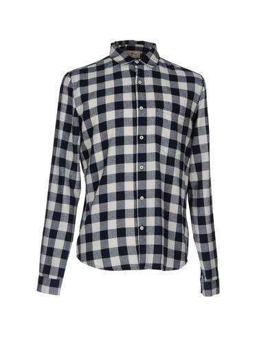 American Vintage Checked Shirt In Dark Blue