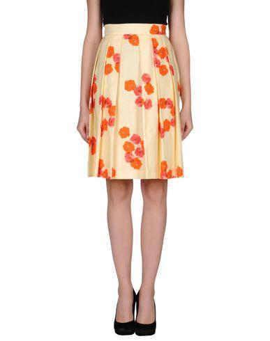 Andrea Incontri Knee Length Skirt In Light Yellow