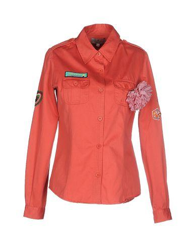 Essentiel Antwerp Solid Color Shirts & Blouses In Coral
