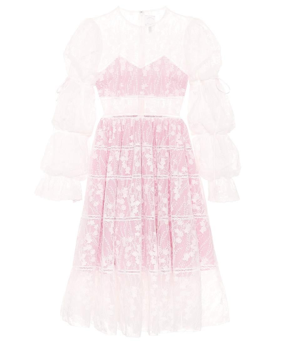 Huishan Zhang Fabienne Lace Dress In White