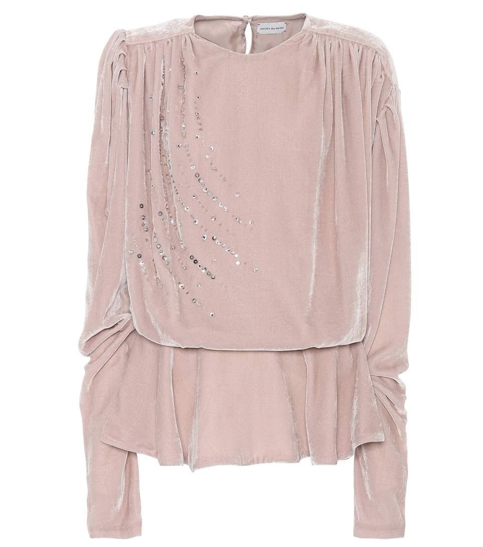 Magda Butrym Asuncion Embellished Blouse In Pink