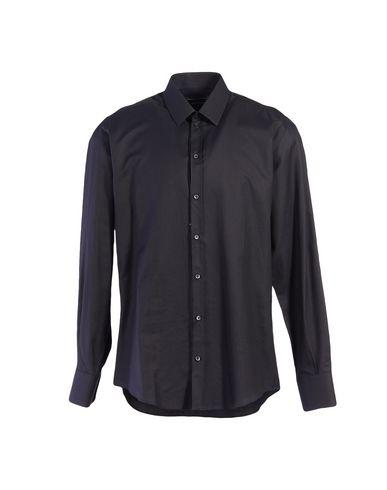 Dolce & Gabbana Solid Color Shirt In Steel Grey