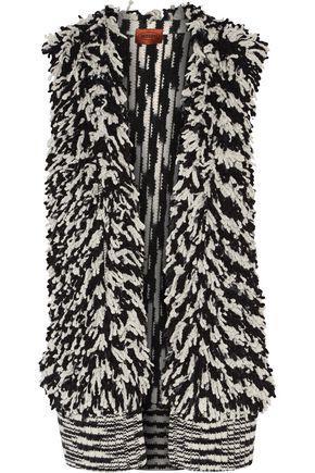 Missoni Woman Paneled Cashmere-Blend BouclÉ Vest Black