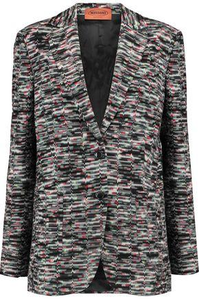 Missoni Woman Crochet-Knit Wool-Blend Blazer Multicolor