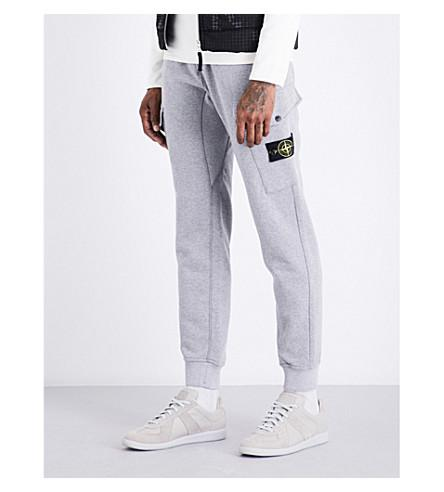 Stone Island Brand-Patch Cargo Cotton-Jersey Track Pants In Polvere