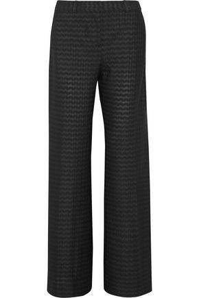 Missoni Woman Crochet-Knit Wool-Blend Wide-Leg Pants Black