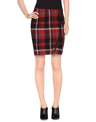 Elevenparis Knee Length Skirt In Brick Red