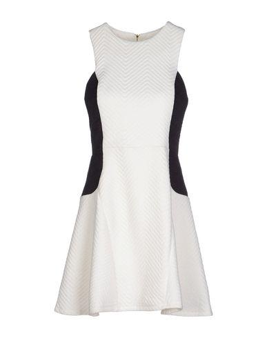 Line & Dot Short Dress In White