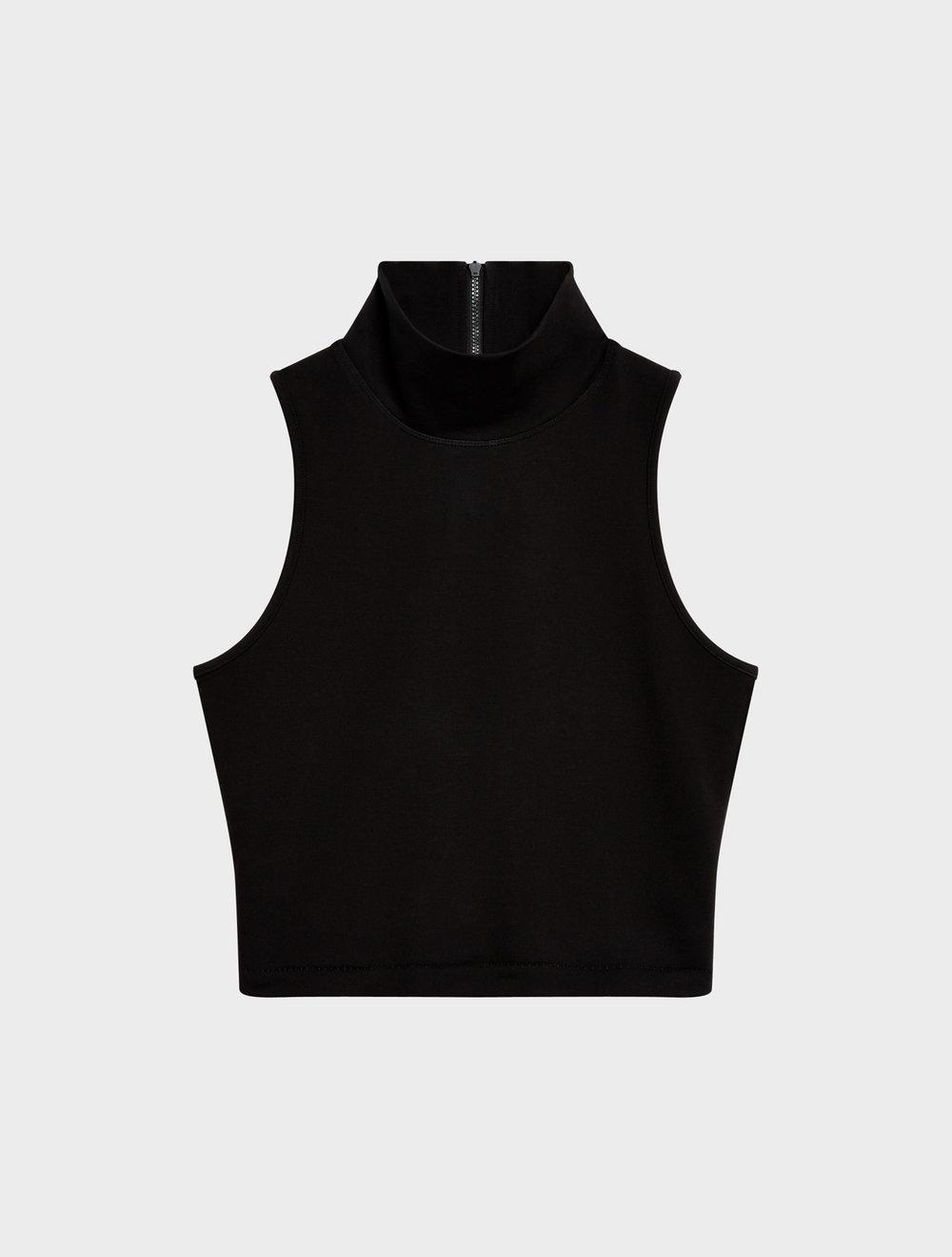 Dkny Sport Mock-Neck Cropped Top In Black