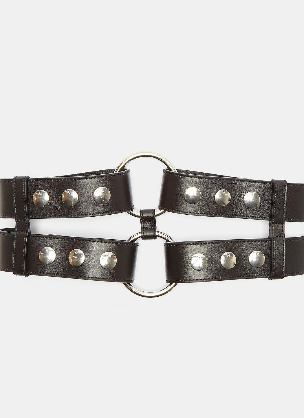 Alyx Double Bondage Snap Stud Belt In Black
