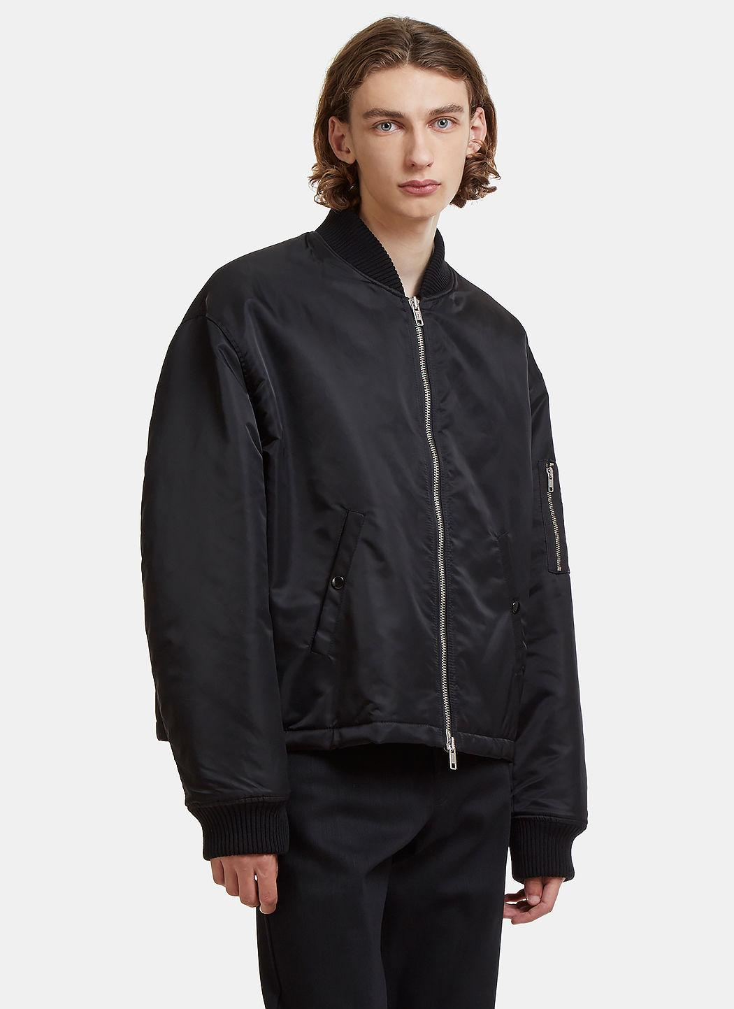 Raf Simons Oversized Any Way Out Bomber Jacket In Black