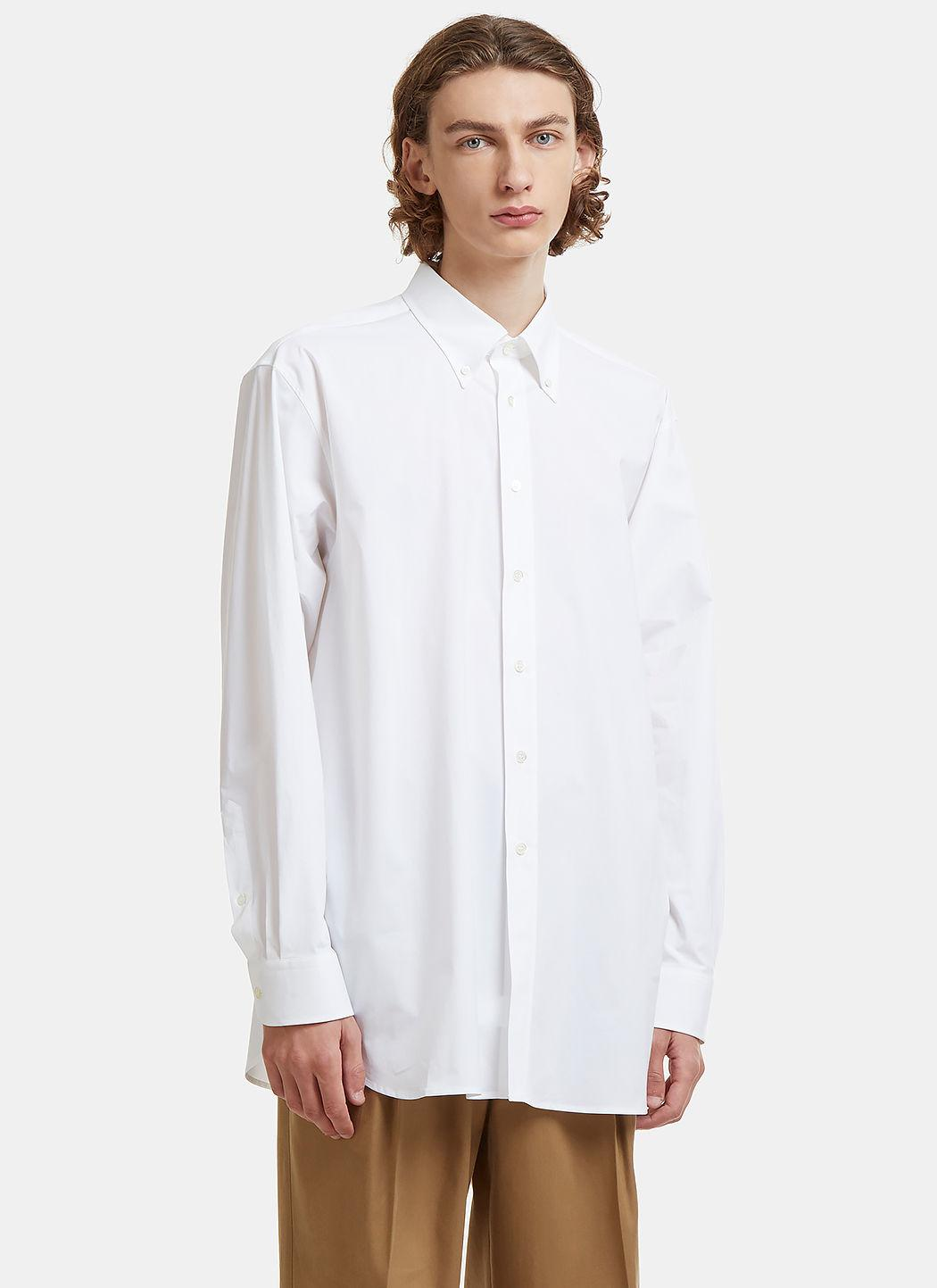 Raf Simons Oversized Embroidered Shirt In White
