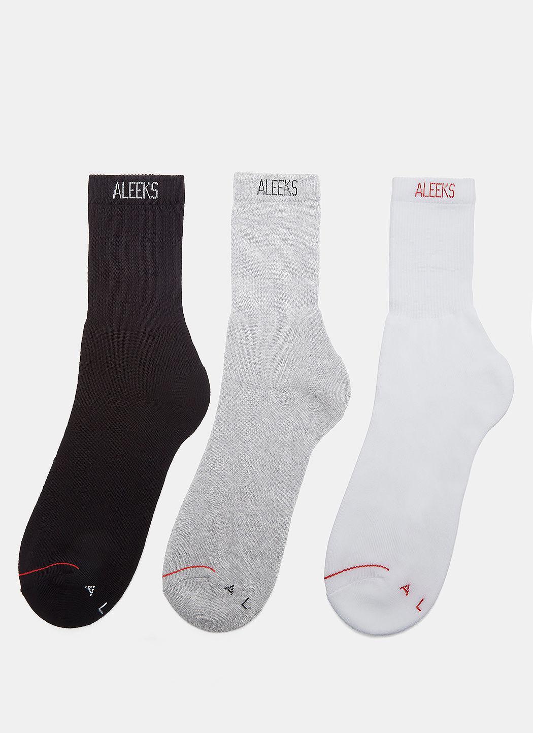 Alyx Aleeks Ankle Socks Three-Pack In Black