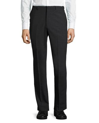 Dkny Wool-Blend Straight-Leg Trousers, Charcoal