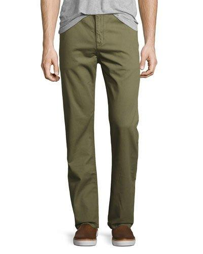 Wesc Eddy Chino Relaxed Pants In Burnt Olive