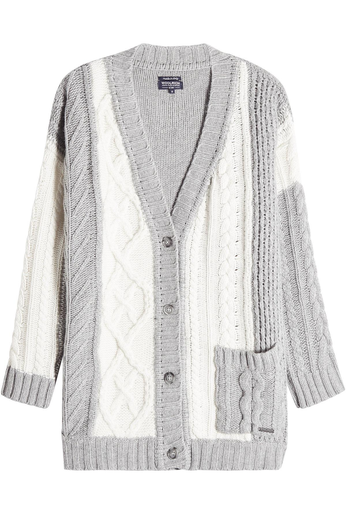 Woolrich Cardigan With Wool, Cashmere And Angora In Multicolored