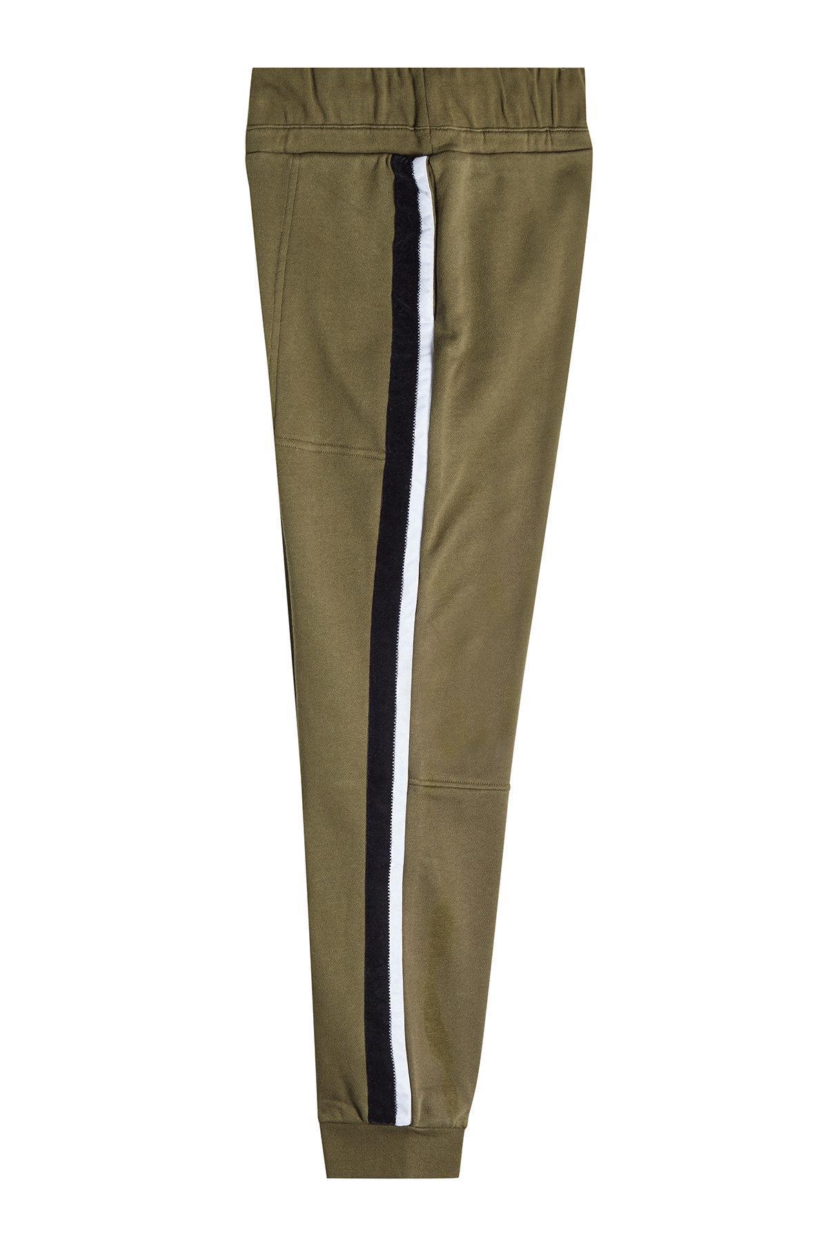 Public School Sweatpants With Velvet In Green