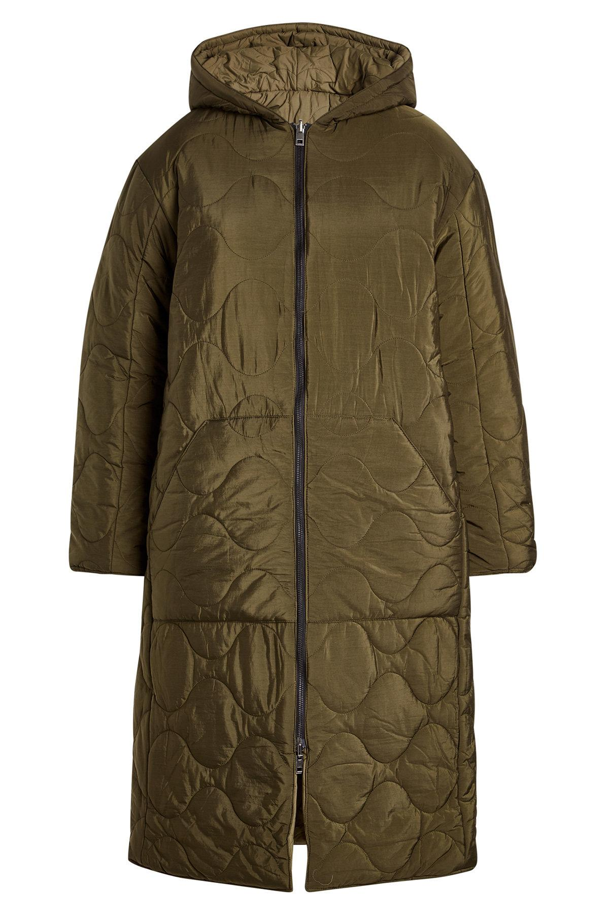 Zadig & Voltaire Quilted Coat With Hood In Black