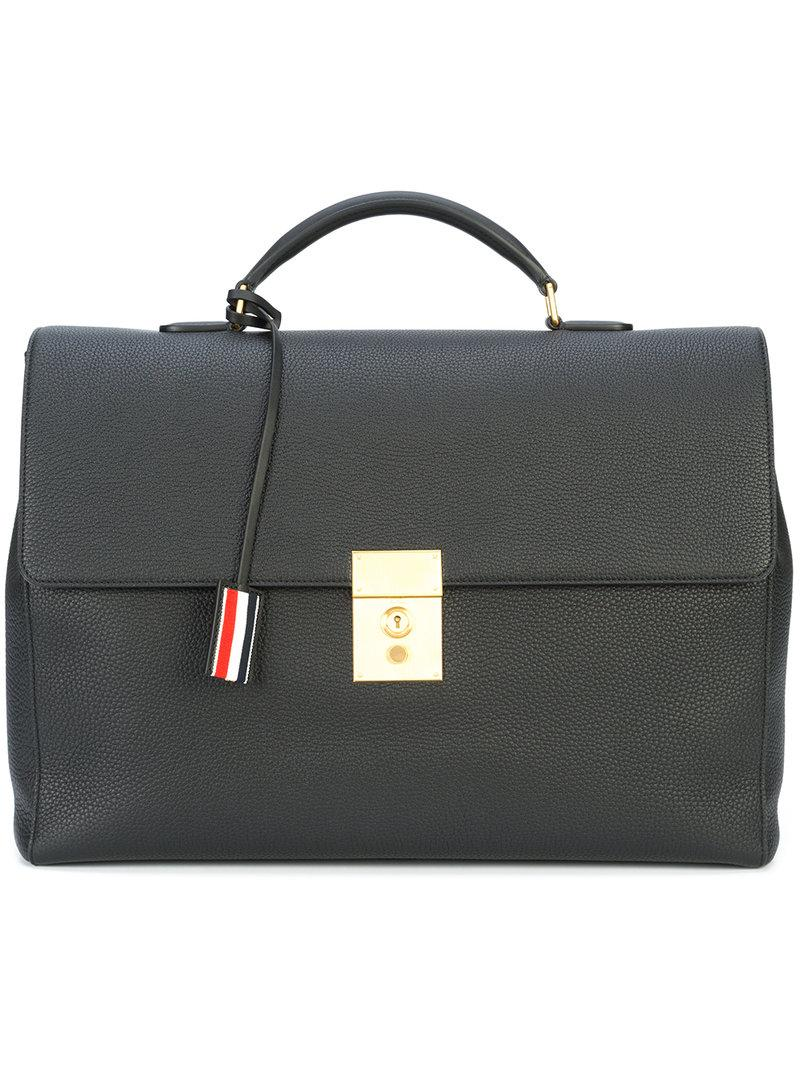 Thom Browne Mr. Thom Briefcase - Black
