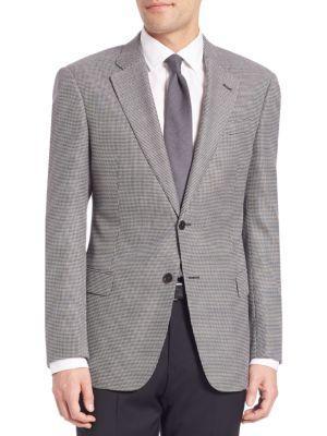 Armani Collezioni Wool-Blend Sportcoat In Slate Grey