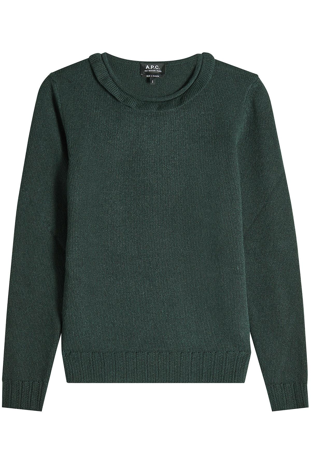 A.P.C. Pullover With Wool, Cashmere And Superkid Mohair In Green