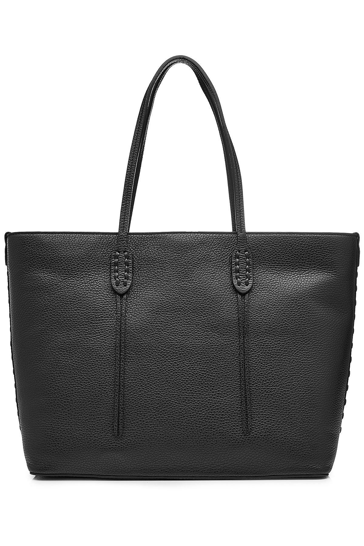 Polo Ralph Lauren Leather Tote In Black