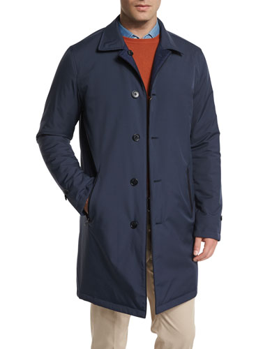 Loro Piana Rainey Reversible Wind Storm System Jacket, Blue Navy/Blue In Blu Navy/Blue