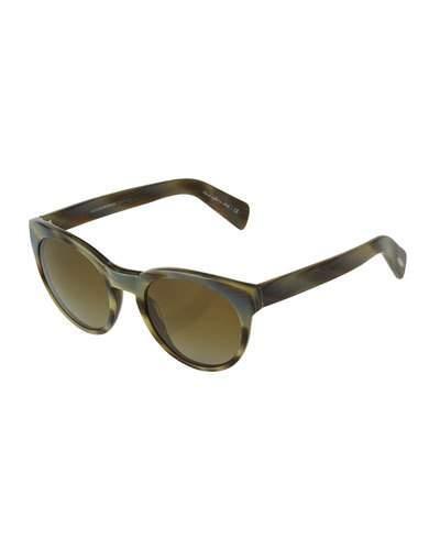Oliver Peoples Emmy Marbled Cat-Eye Sunglasses In Hazel