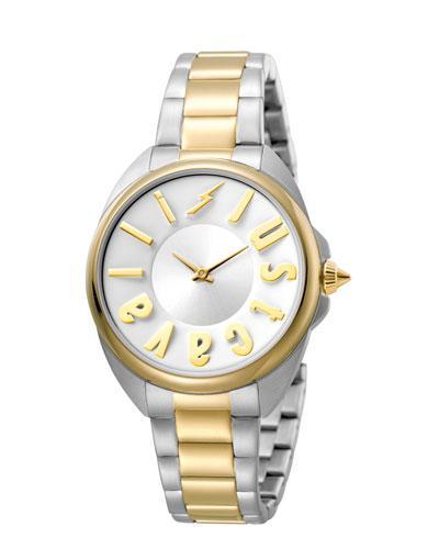 Just Cavalli 34Mm Logo Two-Tone Stainless Steel Bracelet Watch, Multi