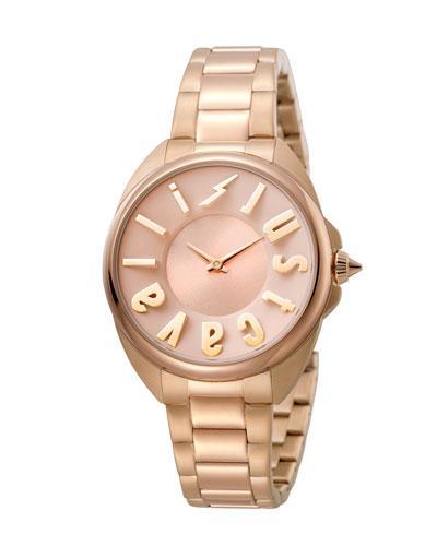 Just Cavalli 34Mm Logo Stainless Steel Bracelet Watch In Multi