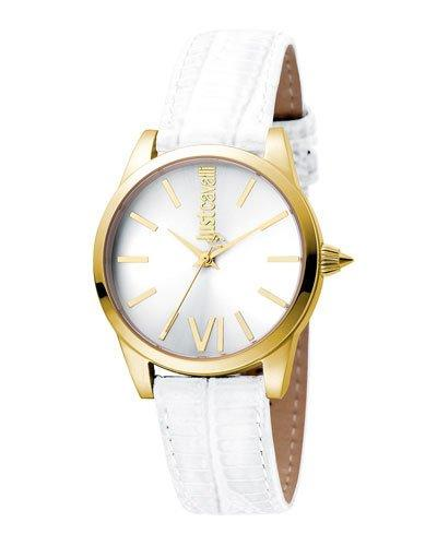 Just Cavalli 32Mm Relaxed Watch W/ White Leather Strap