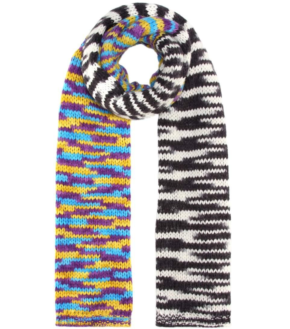 Missoni Knitted Alpaca-Blend Scarf In Multicoloured
