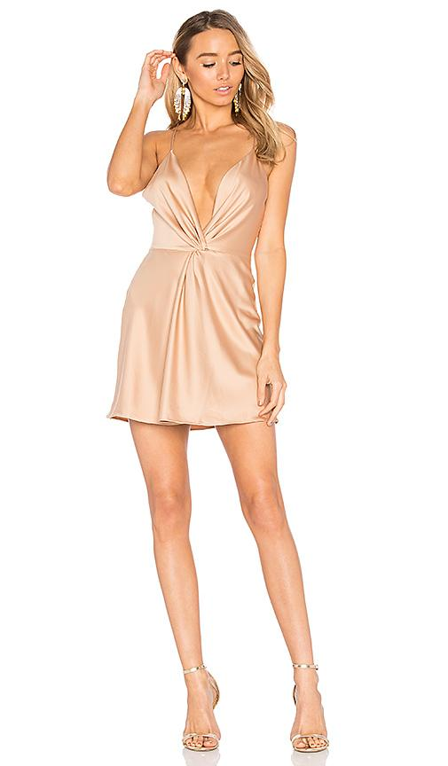 House Of Harlow 1960 X Revolve Sharon Dress In Camel In Brown