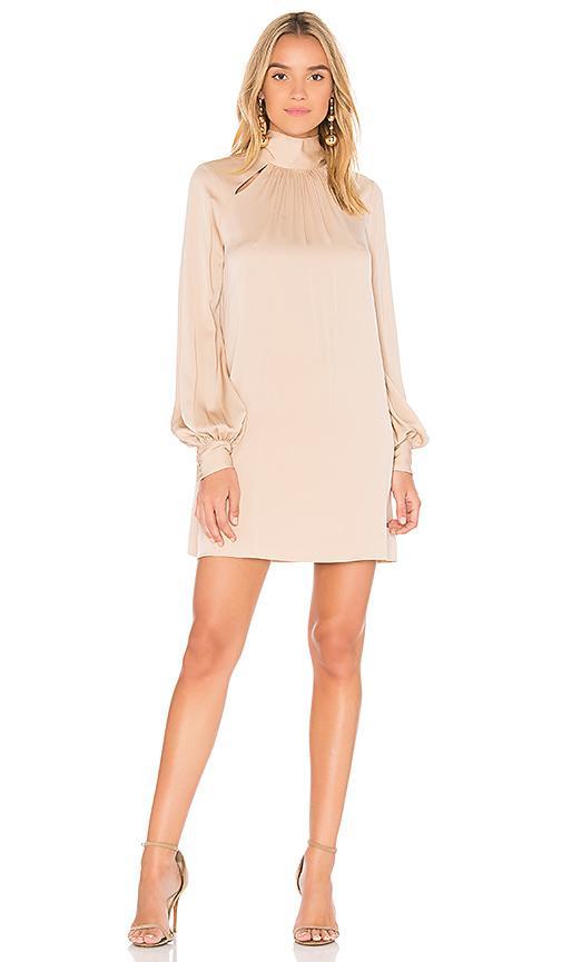 Milly Sherie Silk Dress In Pink