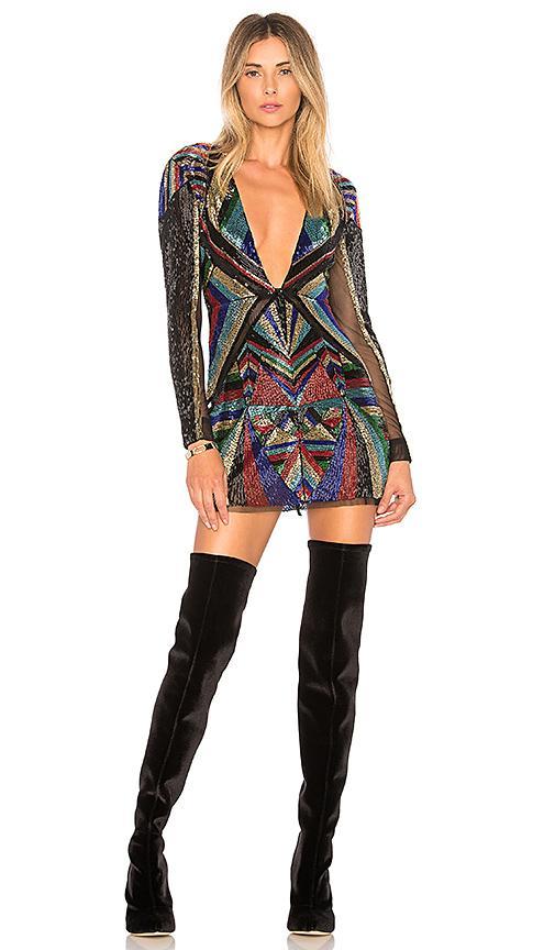 X By Nbd X Revolve Bowie Embellished Dress In Black