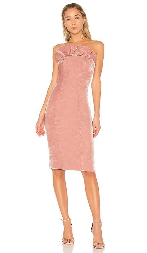 Cinq À Sept Marceau Ruffle Trim Strapless Dress In Blush