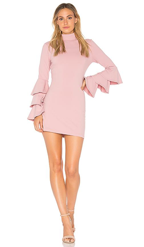 Susana Monaco Layered Ruffle Sleeve Dress In Ballerina