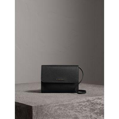 13c250b70973 Burberry Grainy Leather Crossbody Bag In Black