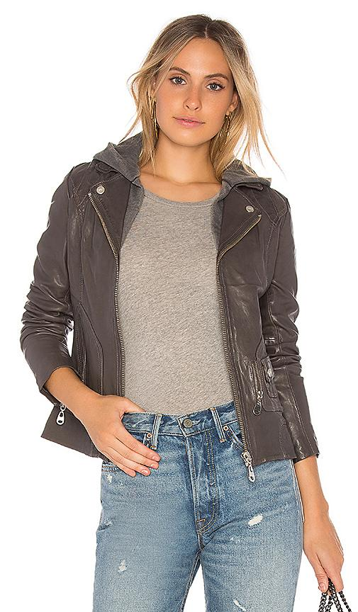 Doma Vintage Zip Out Hood Jacket In Charcoal