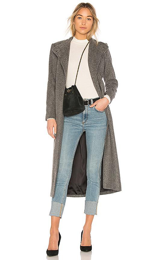 Rachel Comey Portman Coat In Charcoal