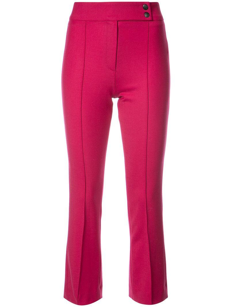 Veronica Beard Vaughn Cropped Flare Trousers