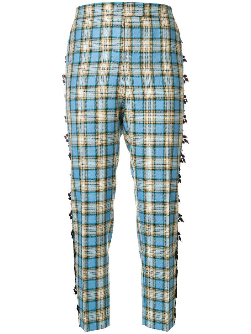 Marco De Vincenzo Checked Cropped Trousers