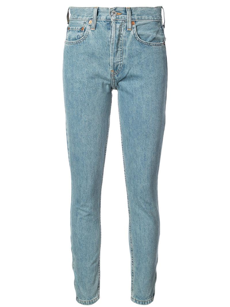 Re/Done Skinny Jeans - Blue