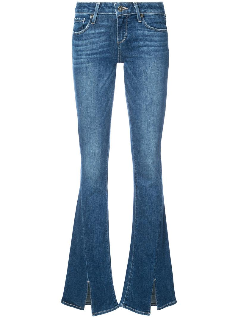 Paige Flared Fitted Jeans