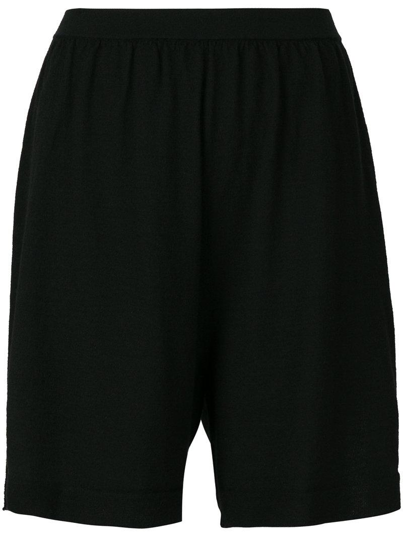 Rick Owens Loose Fit Shorts - Black