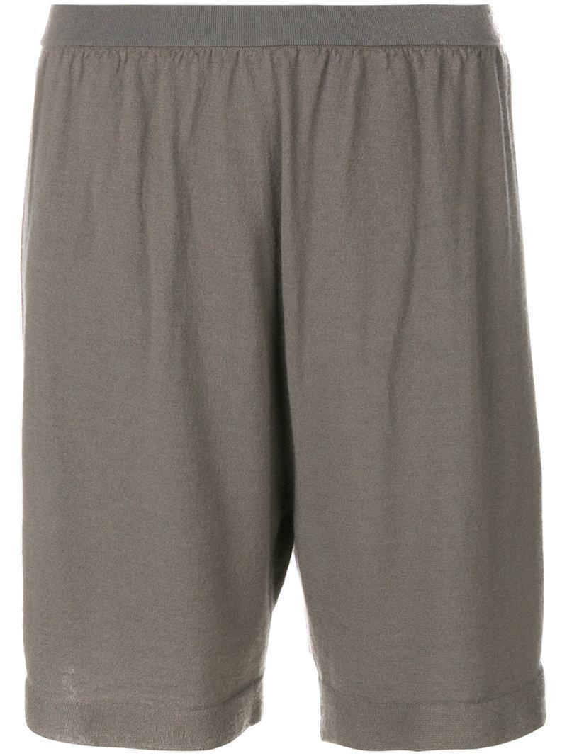 Rick Owens Loose Fit Shorts - Grey