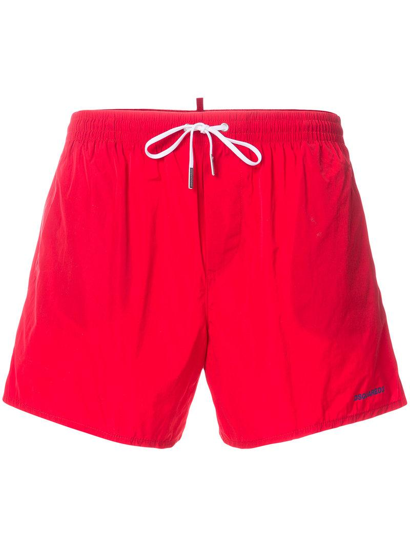 Dsquared2 Beach Shorts In Red