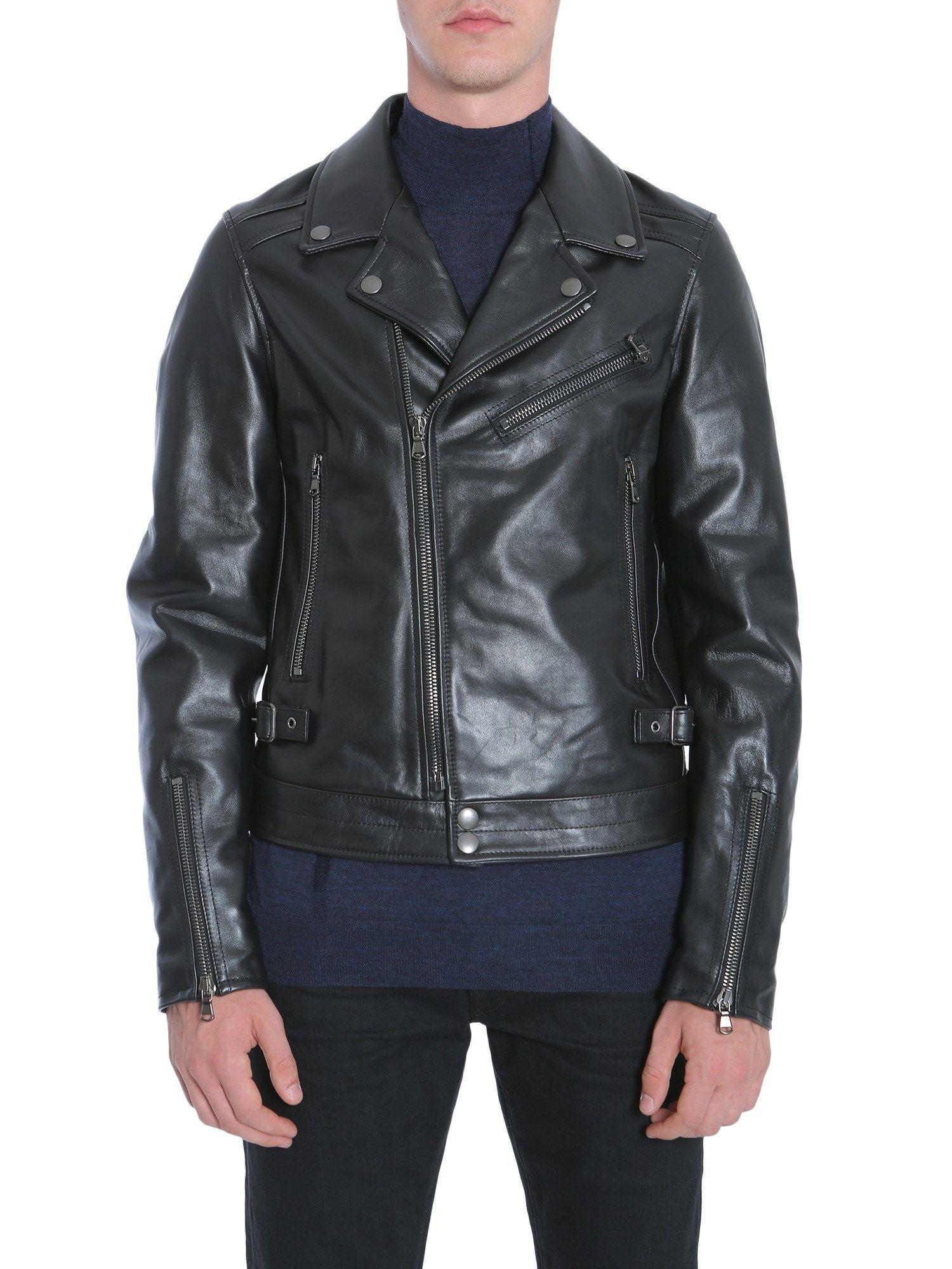 Diesel Black Gold Lorenzo-R Biker Jacket In Nero