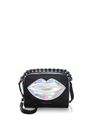 Kendall + Kylie Lucy Lips Crossbody Bag In Black