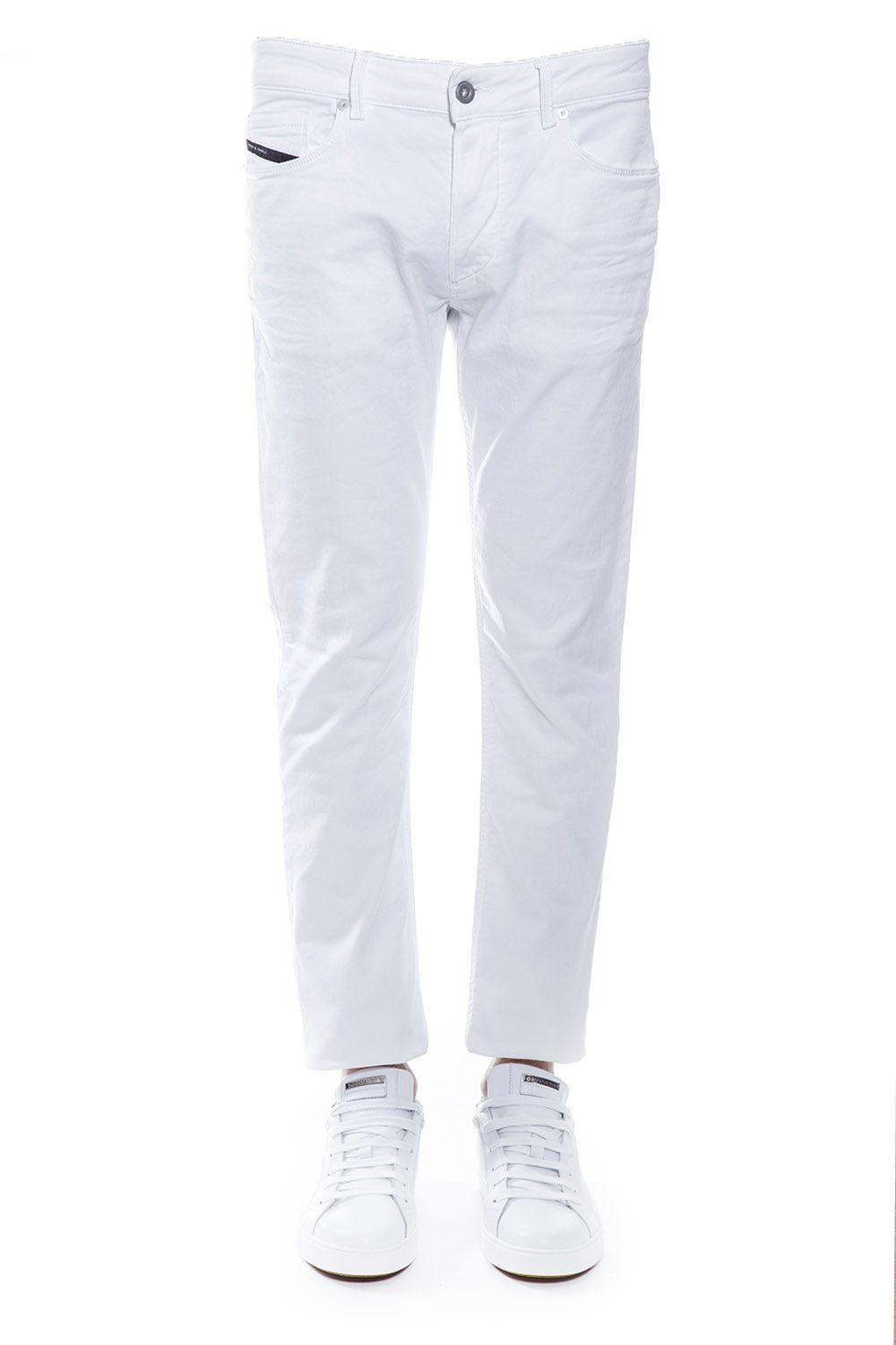 Diesel Black Gold Cotton Denim Jeans In White